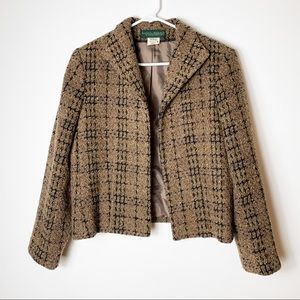 Harve Bernard Brown Dress Jacket Sz 10